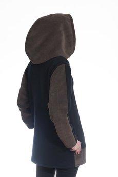 HebeQuss - Bluza z kapturem Brown Vader