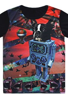 MissSpark - T-shirt DOG ROBOT