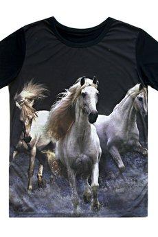 MissSpark - T-shirt WHITE HORSES