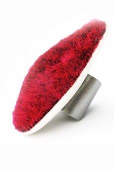 Projekt Mosko - Regulowany pierścionek z porcelany i futra