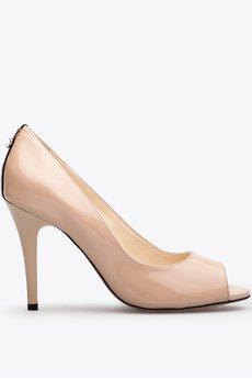 Gloss shoes  cz%c3%b3%c5%82enka z odkrytymi palcami i ozdob%c4%85 z ty%c5%82u be%c5%bc  429z%c5%82  1