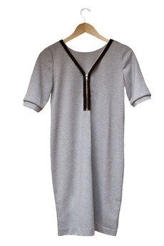 Let's Funky! - V-zipped Dress Grey