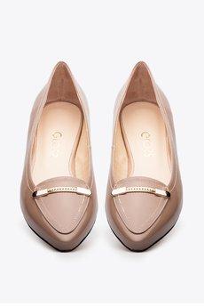 Gloss shoes  balerina lakierowana z czybkiem i ozdob%c4%85 359z%c5%82  2