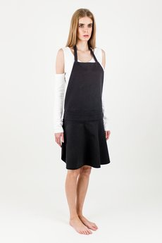 BLUE EYE POP - KOMPLET DAMSKI Sukienka-fartuch WBEP_D05 + biała sukienka