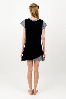 BLUE EYE POP - Komplet Sukienka w kratkę WBEP_D08 + czarna sukienka