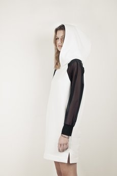 {basic station} - DEMENTORKA DRESS WHITE