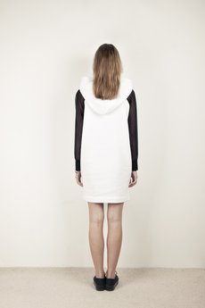{basic station} - DEMENTORKA DRESS WHITE