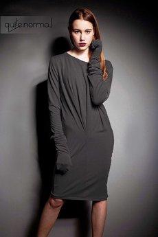 Quitenormal - Pleasure GRAFIT BLEND Sukienka dzianina