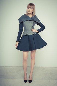 Gosia Strojek - Pikowana spódnica rozkloszowana GS