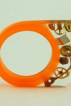 SCRADEUS - Żywicowy pierścionek zegarkowy NEON
