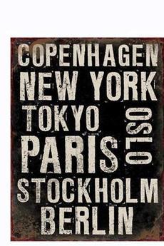 - Szyld metalowy Cities