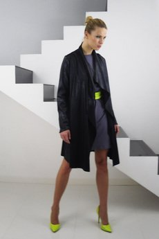 - KAMIL perfect leather-imitation coat