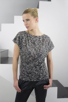 YES TO DRESS by Bożena Karska - LUNA melange jersey tshirt