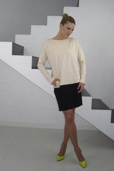 YES TO DRESS by Bożena Karska - DRESICA beige/black jersey dress