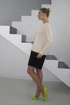 - DRESICA beige/black jersey dress