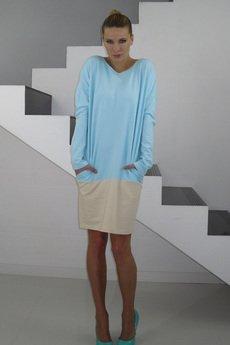 - DRESICA bluesky/beige jersey dress