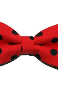 bowstyle - Mucha gotowa bowstyle Czerwona w grochy