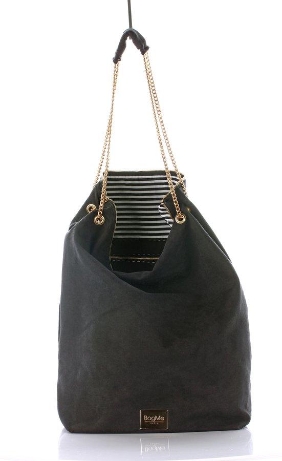 Bag Of Secrets Black Suede Beżowy I Czarny | Bagme By