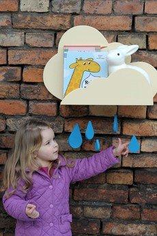 """Up! Warsaw - Półka chmurka """"Up! in the sky"""" do pokoju dla dzieci"""