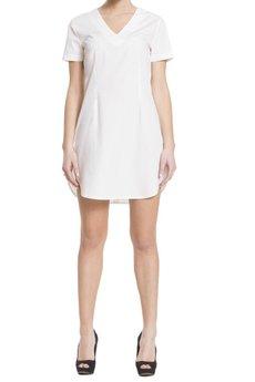 BLUE EYE POP - Biała sukienka Wbep_D02