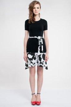 Luiza Kimak - Czarno-biała sukienka z krótkim rękawkiem