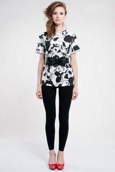 Luiza Kimak - T-shirt w czarno-białe jabłka