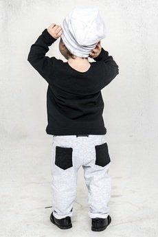 mamatu - Mamatu spodnie PiK jasne szare