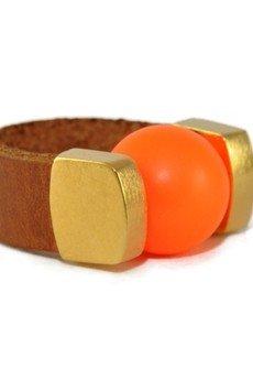 Joccos Design - Neon Orange Pearl Ring