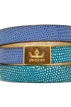 Joccos Design - Bogota Triple Wrap Blue Bracelet