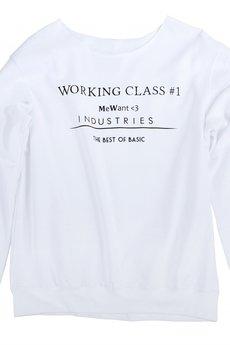 MeWant<3 - 'working class#1' sweatshirt WHITE