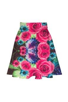 Lambear - Spódnica z koła w kwiaty