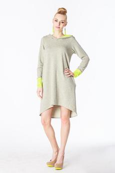 - Sukienka Hoodie Dress _fluo