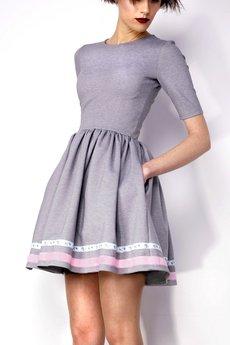 Kasia Miciak design - Rozkloszowana sukienka z kieszeniami