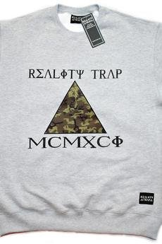 RTC Reality Trap Clothing - Camo Triangle Crewneck