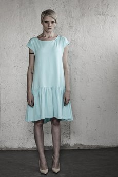 YES TO DRESS by Bożena Karska - LOLA light blue jersey dress