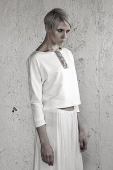YES TO DRESS by Bożena Karska - CLOUD offwhite jersey blouse