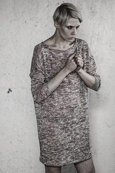 YES TO DRESS by Bożena Karska - MILA silver/copper jersey dress