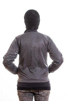 Slogan ubrania ekologiczne, etyczne i wegańskie - REVERSE kurtka baseballowa black
