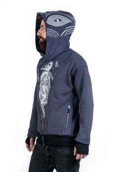 Slogan ubrania ekologiczne, etyczne i wegańskie - The eye by OTECKI bluza męska grey