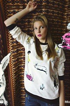 MissSpark - Bluza BUNNY TIME biała