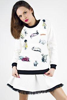 - Bluza BUNNY TIME biała