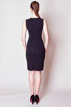- JAS-05  Sukienka prosta stębnowana matowa