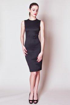 - JAS-05-B Sukienka prosta połysk