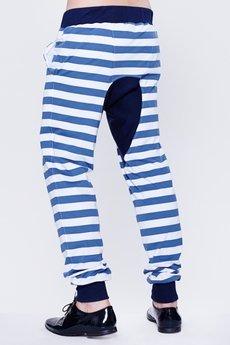 BLUE EYE POP - Pasiaste Spodnie męskie Mpeb_Sp12