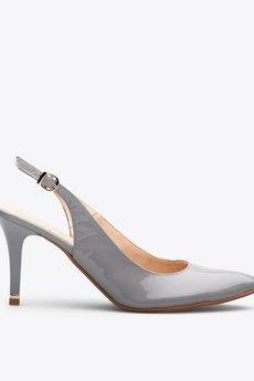 Gloss shoes  popielate cz%c3%b3%c5%82enka w szpic z odkryt%c4%85 pi%c4%99t%c4%85  429 z%c5%82  1