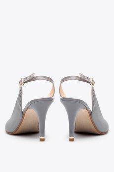Gloss shoes  popielate cz%c3%b3%c5%82enka w szpic z odkryt%c4%85 pi%c4%99t%c4%85  429 z%c5%82  2