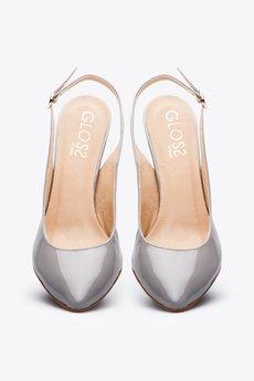 Gloss shoes  popielate cz%c3%b3%c5%82enka w szpic z odkryt%c4%85 pi%c4%99t%c4%85  429 z%c5%82  3
