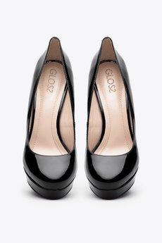 Gloss Shoes - Czółenka lakierowane na słupku