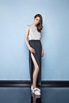 - Slit-back maxi skirt