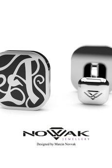 """Novvak Jewellery - Ekskluzywna spinka do mankietu - inicjał """"A"""""""